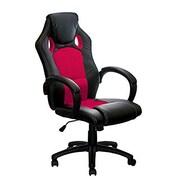 Aleko High-Back Desk Chair; Red
