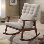 Latitude Run Nikanor Rocking Chair; Light Beige