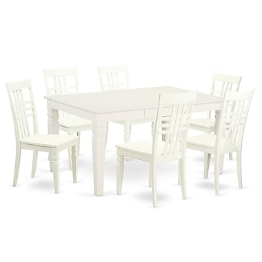 Darby Home Co Beetham 7 Piece Dining Set; White Linen