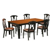 Darby Home Co Beesley 7 Piece  Hardwood Dining Set; Cherry