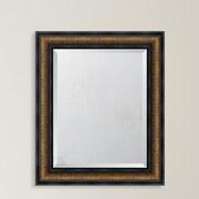 Melissa Van Hise Bronze w/ Black Trim Resin Frame Wall Mirror; 37'' H x 31'' W x 1.625'' D