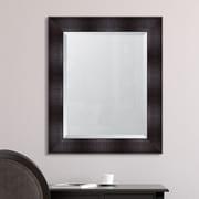 Melissa Van Hise Espresso Resin Frame Wall Mirror; 36'' H x 30'' W x 1.75'' D