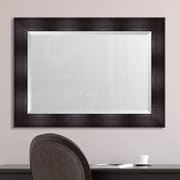 Melissa Van Hise Espresso Resin Frame Wall Mirror; 44'' H x 32'' W x 1.75'' D