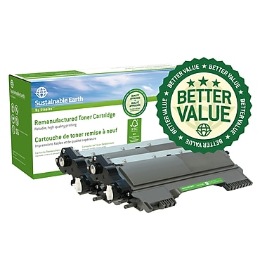 Staples® Sustainable Earth® - Cartouche de toner laser remise à neuf TN420 compatible Brother, noir, paq./3