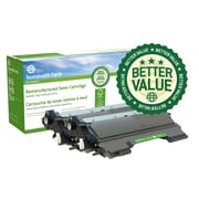 Staples® Sustainable Earth® Brother TN420 Reman Laser Toner Cartridge, Standard Yield, Black, 3/Pack