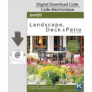 PC Punch. Landscape, Deck and Patio Designer v19 [Download]