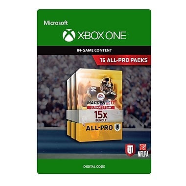 Xbox One – Madden NFL 17 : Ensemble 15 All-Pro Pack [Téléchargement]
