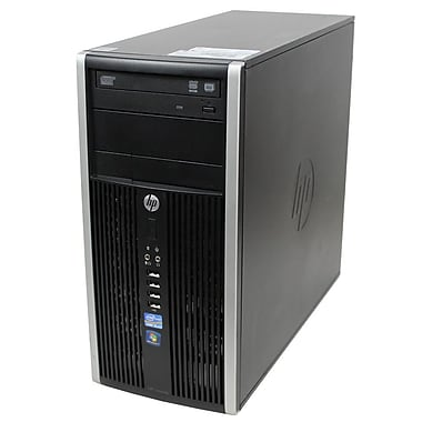 HP - PC de table 6200 MT tour remis à neuf, 3,1 GHz Intel Core i3-2120, SSD 256 Go, 8 Go DDR3, Windows 10 Pro