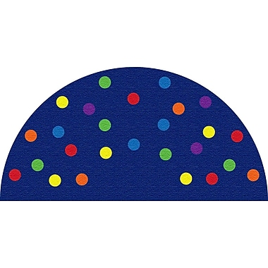 Kid Carpet Spots Blue Semicircle Area Rug