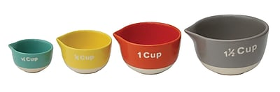 Creative Co-Op Urban 4 Cup Stoneware Measuring Cup Set WYF078279802351