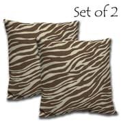 Comfort Classics Zebra Outdoor Chair Back Cushion (Set of 2)