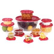 Volar Ideas 26-Piece Food Storage Container Set; Red