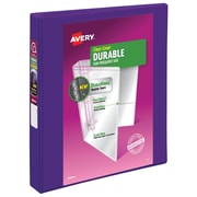 """1"""" Avery® 5-1/2"""" x 8-1/2"""" Mini View Binder with Round Rings, Purple"""