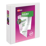 Avery Durable 2-Inch Slant D 3-Ring View Binder, White (17019/17032)