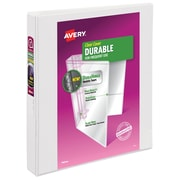 Avery Durable 1-Inch D 3-Ring View Binder, White (17006/17012)