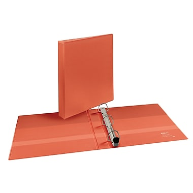 Avery Heavy-Duty EZD 1-Inch 3-Ring View Binder, Orange (17595)