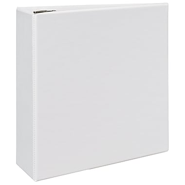 Avery Durable 4-Inch D 3-Ring View Binder, White (9801)