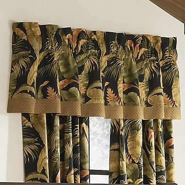 Thomasville At Home La Selva Black 72'' Straight Curtain Valance