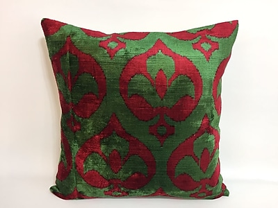 Tasdemir Rugs Flordeli Velvet Throw Pillow