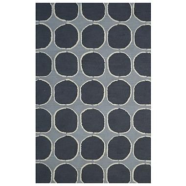 Eastern Weavers Wool Hand-Tufted Gray/Charcoal Area Rug; 5' x 8'