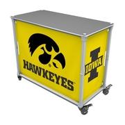 Rainmaker Imports Hawkeyes Tailgate Station Bar Cart; Yellow