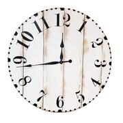 BrandtWorksLLC Oversized Modern Distressed 36'' Wall Clock