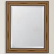 Melissa Van Hise Brown w/ Dark Edges Resin Frame Wall Mirror; =34.5'' H x 28.5'' W x 1.25'' D