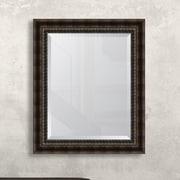 Melissa Van Hise Black/Bronze Acid Wash Wall Mirror; 35.5'' H x 29.5'' W x 2.5'' D