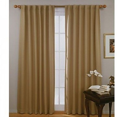 Aleko Insulated Blackout Thermal Curtain Panels (Set of 2); Wheat