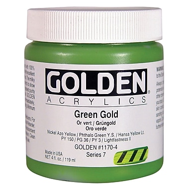 Golden Artist Colors 4 Oz Heavy Body Acrylic Color Paints; Cadmium Yellow Medium