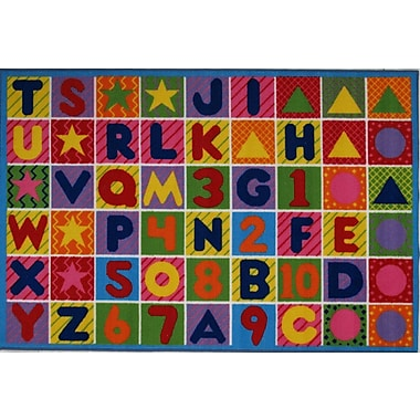 Zoomie Kids Fornax Numbers and Letters Kids Area Rug; 3'3'' x 4'10''