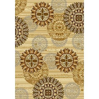United Weavers of America Affinity Sundial Ivory/Gold Area Rug; 5'3'' x 7'2''
