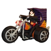 The Holiday Aisle Halloween Inflatable Skeleton on Motorcycle Decoration