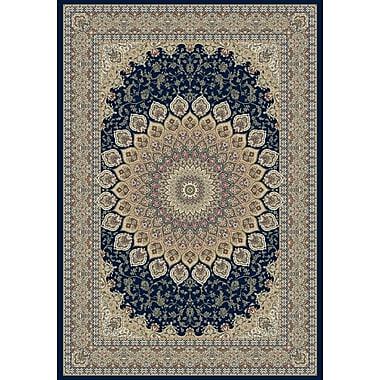Astoria Grand Attell Persian Navy Area Rug; 3'11'' x 5'7''
