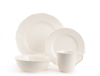 Red Vanilla Nantucket 16 Piece Dinnerware Set, Service for 4