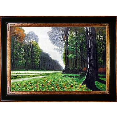 Astoria Grand 'The Road to Bas-Breau, Fontainebleau' by Claude Monet Framed Painting