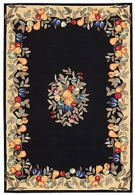 August Grove Westwood Black Area Rug; Rectangle 5' x 8'