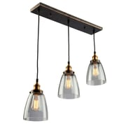 17 Stories Farheen 3-Light Glass Pendant