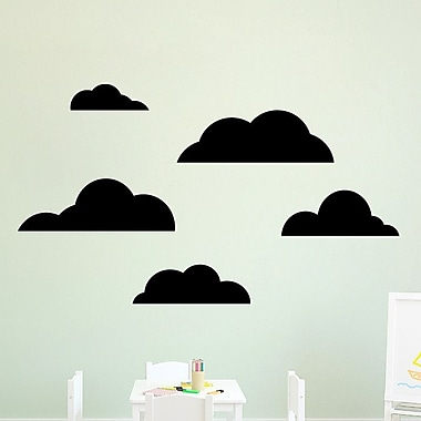 SweetumsWallDecals 5 Piece Cloud Wall Decal Set; Black