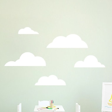 SweetumsWallDecals 5 Piece Cloud Wall Decal Set; White