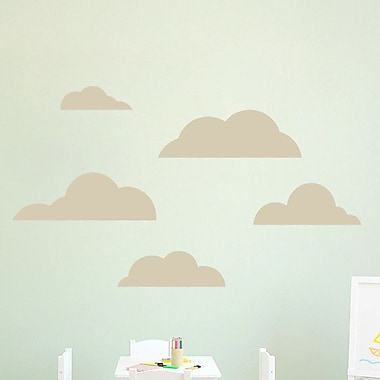 SweetumsWallDecals 5 Piece Cloud Wall Decal Set; Beige