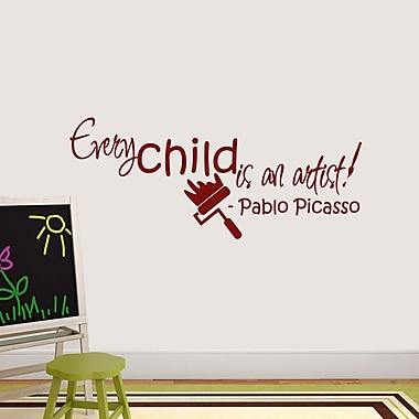 SweetumsWallDecals Every Child is An Artist Wall Decal; Cranberry