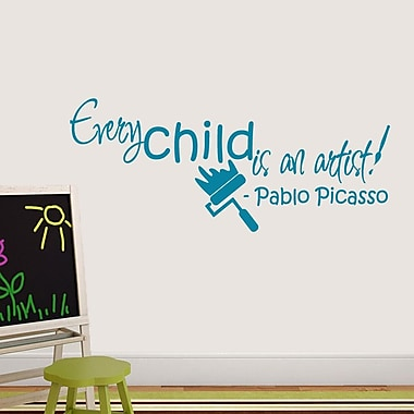 SweetumsWallDecals Every Child is An Artist Wall Decal; Teal