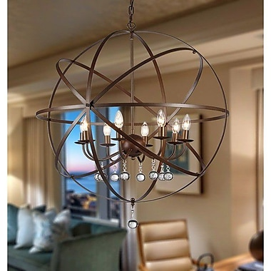 Warehouse of Tiffany Jossie 8-Light Candle-Style Chandelier