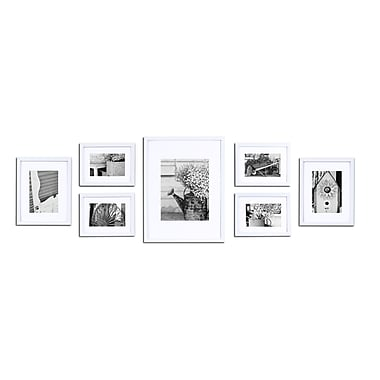 Red Barrel Studio 7 Piece Perfect Wall Picture Frame Set; White