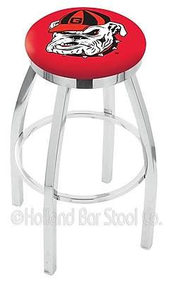 Holland Bar Stool NCAA 25'' Swivel Bar Stool; Georgia - ''Bulldog''