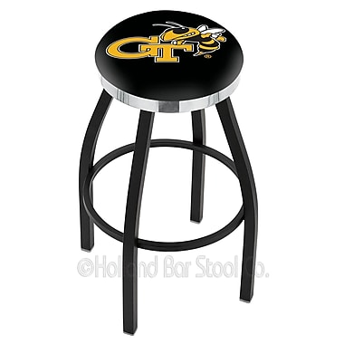 Holland Bar Stool NCAA 36'' Swivel Bar Stool; Georgia Tech