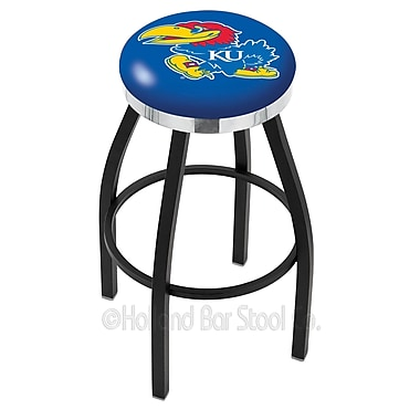 Holland Bar Stool NCAA 36'' Swivel Bar Stool; Kansas