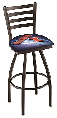 Holland Bar Stool NCAA 25'' Swivel Bar Stool; Illinois