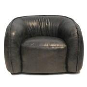 Latitude Run Tanya Club Chair; Antique Black